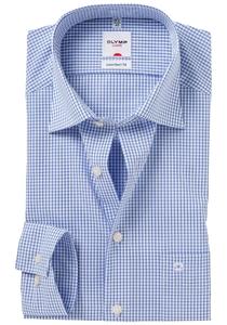 OLYMP Comfort Fit overhemd, blauw geruit
