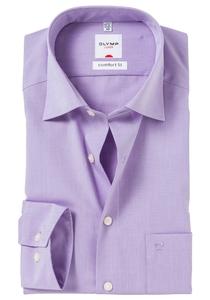 OLYMP Comfort Fit overhemd, paars