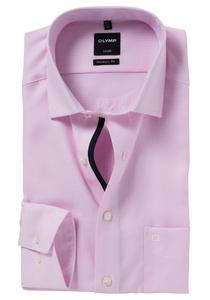 OLYMP Modern Fit overhemd, roze motief (contrast)