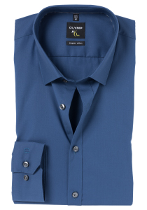 OLYMP No. 6 Six, Super Slim Fit overhemd, blauw