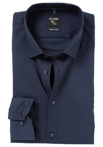 OLYMP No. 6 Six, Super Slim Fit overhemd, marine blauw