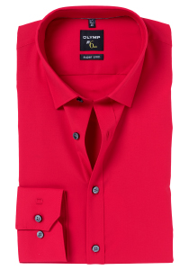 OLYMP No. 6 Six, Super Slim Fit overhemd, rood