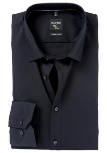 OLYMP No. 6 Six, Super Slim Fit overhemd mouwlengte 7, zwart