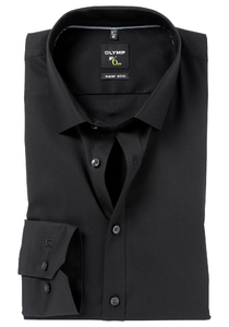OLYMP No. 6 Six, Super Slim Fit overhemd (taillenaad), zwart