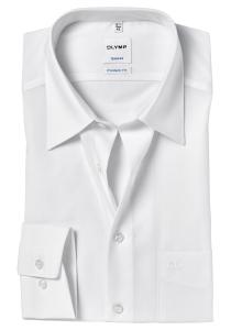 OLYMP Tendenz Modern Fit overhemd, wit