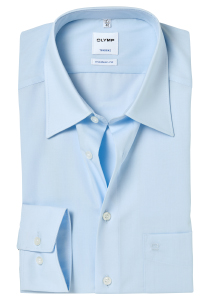 OLYMP Tendenz Modern Fit overhemd, lichtblauw