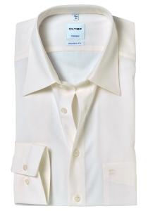 OLYMP Tendenz Modern Fit overhemd, ecru