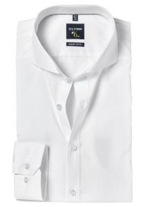 OLYMP No. 6 Six, Super Slim Fit overhemd, wit