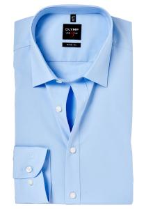 OLYMP Level 5 overhemd, mouwlengte 7, licht blauw