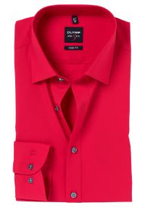 OLYMP Level 5 overhemd, rood