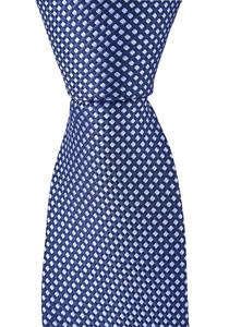 OLYMP stropdas, marine blauw motief
