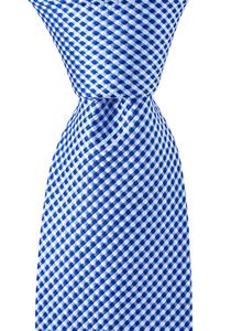 OLYMP stropdas, licht blauw motief