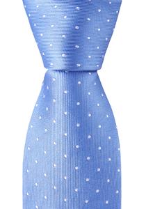 OLYMP smalle stropdas, licht blauw gestipt
