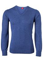 OLYMP Level 5, heren trui wol, middel blauw (Slim Fit)