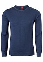 OLYMP Level 5, heren trui wol, marine blauw (Slim Fit)
