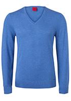 OLYMP Level 5, heren trui wol, licht blauw (Slim Fit)