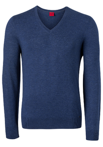 OLYMP Level 5, heren trui wol, royal blauw (Slim Fit)