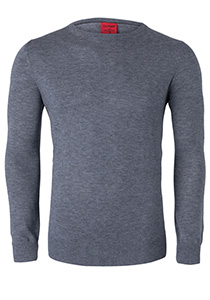 OLYMP Level 5, heren trui wol, zilver grijs (Slim Fit)