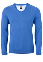 OLYMP heren trui katoen, V-hals, licht blauw