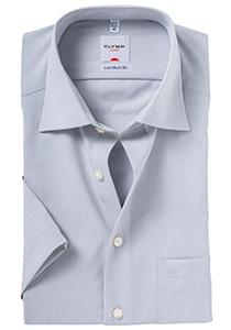 OLYMP Comfort Fit, overhemd korte mouw, grijs