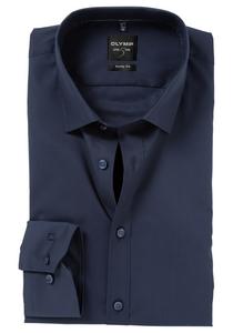 OLYMP Level 5 overhemd, mouwlengte 7, nacht blauw