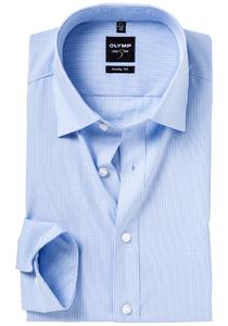 OLYMP Level 5 overhemd, mouwlengte 7, blauw geruit