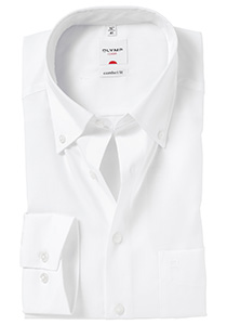 OLYMP Comfort Fit overhemd, wit (Button Down)