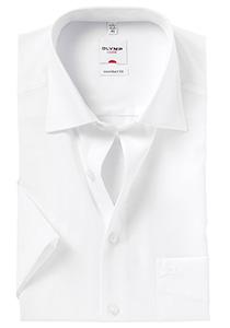 Overhemd OLYMP Comfort Fit, korte mouwen, wit