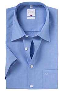 Overhemd OLYMP Comfort Fit, korte mouw, blauw (Fil a Fil)
