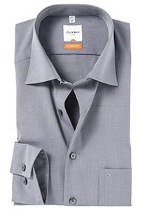 OLYMP Modern Fit overhemd, grijs (Fil a Fil)