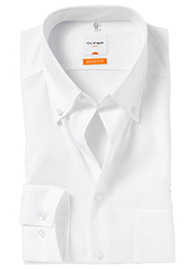 OLYMP Modern Fit overhemd, wit (Button Down)