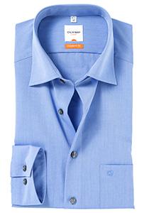 OLYMP Modern Fit overhemd, middel blauw
