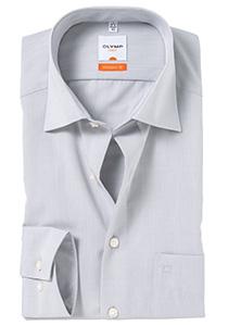 OLYMP Modern Fit overhemd, licht grijs