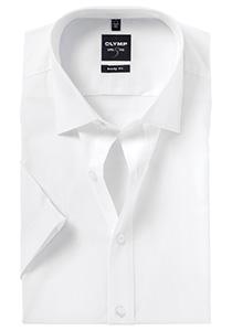 OLYMP Level 5 overhemd korte mouwen, wit
