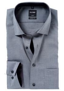 OLYMP Modern Fit overhemd, antraciet natté (contrast)