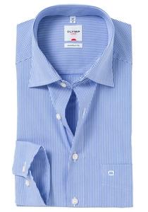 OLYMP Comfort Fit overhemd, wit / blauw