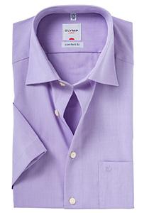 OLYMP Comfort Fit, overhemd korte mouw, paars