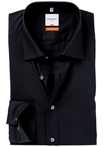 OLYMP Modern Fit overhemd, zwart (zonder borstzak)