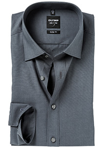 OLYMP Level 5 overhemd, mouwlengte 7, antraciet