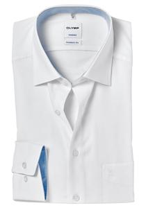 OLYMP Tendenz Modern Fit overhemd, wit structuur (contrast)