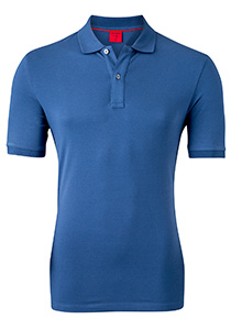 OLYMP Level 5 Body Fit poloshirt (stretch), rook blauw