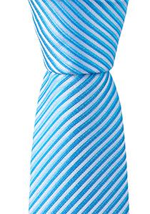 OLYMP stropdas, blauw gestreept