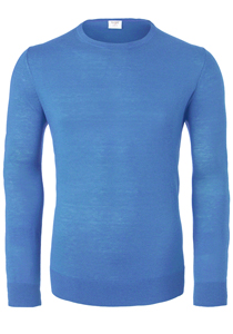 OLYMP Level 5, heren trui wol, lichtblauw (Slim Fit)