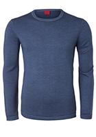 OLYMP Level 5, heren trui wol, jeansblauw (Slim Fit)