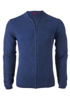 OLYMP Level 5 Body Fit heren vest wol / zijde, blauw