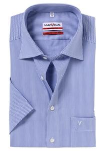 MARVELIS Modern Fit, overhemd korte mouw, blauw-wit gestreept