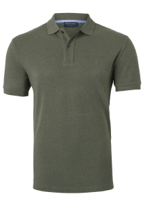 Profuomo Slim Fit polo, army groen melange
