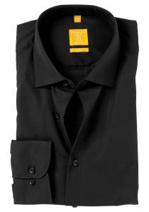 Redmond Modern Fit overhemd mouwlengte 7, zwart