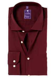 Redmond Slim Fit overhemd, bordeaux rood