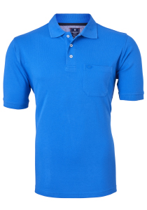 Redmond Regular Fit poloshirt, korenbloem blauw